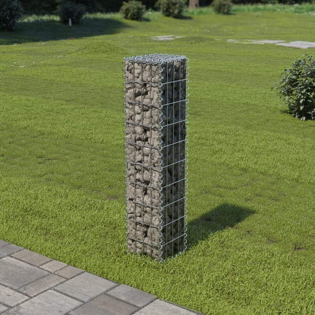 Tidyard Muro de gaviones con Cubiertas Acero galvanizado 20x20x100 ...