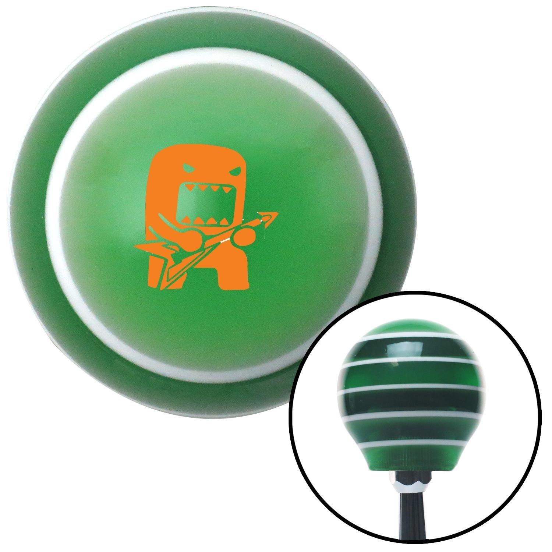 Orange Domo Jammin American Shifter 122147 Green Stripe Shift Knob with M16 x 1.5 Insert