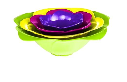 2 opinioni per Zak Designs 2017-H590 Flora, Set 4 mini ciotole ad incastro, colore: Verde,
