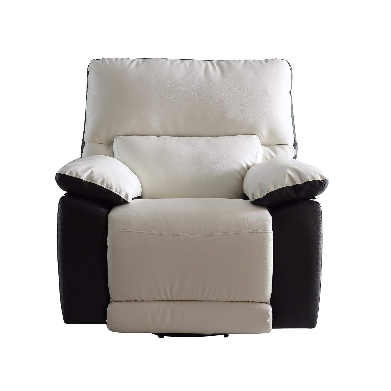 Amazon.com: Moderno sillón reclinable de cuero ...