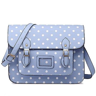 Miss Lulu Vintage Designer Faux Leather Polka Dots Work Briefcase Messenger  Satchel Bag School Bag c0364609e60e2