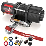 FIERYRED 12V 4500LBS Electric Synthetic Rope ATV Winch Kits for Towing ATV/UTV Off Road Trailer with Wireless Remote…