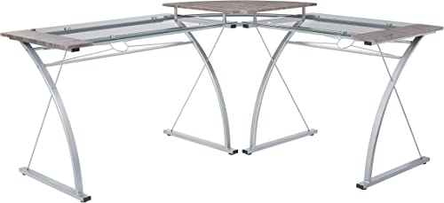 OSP Home Furnishings Desk Silver