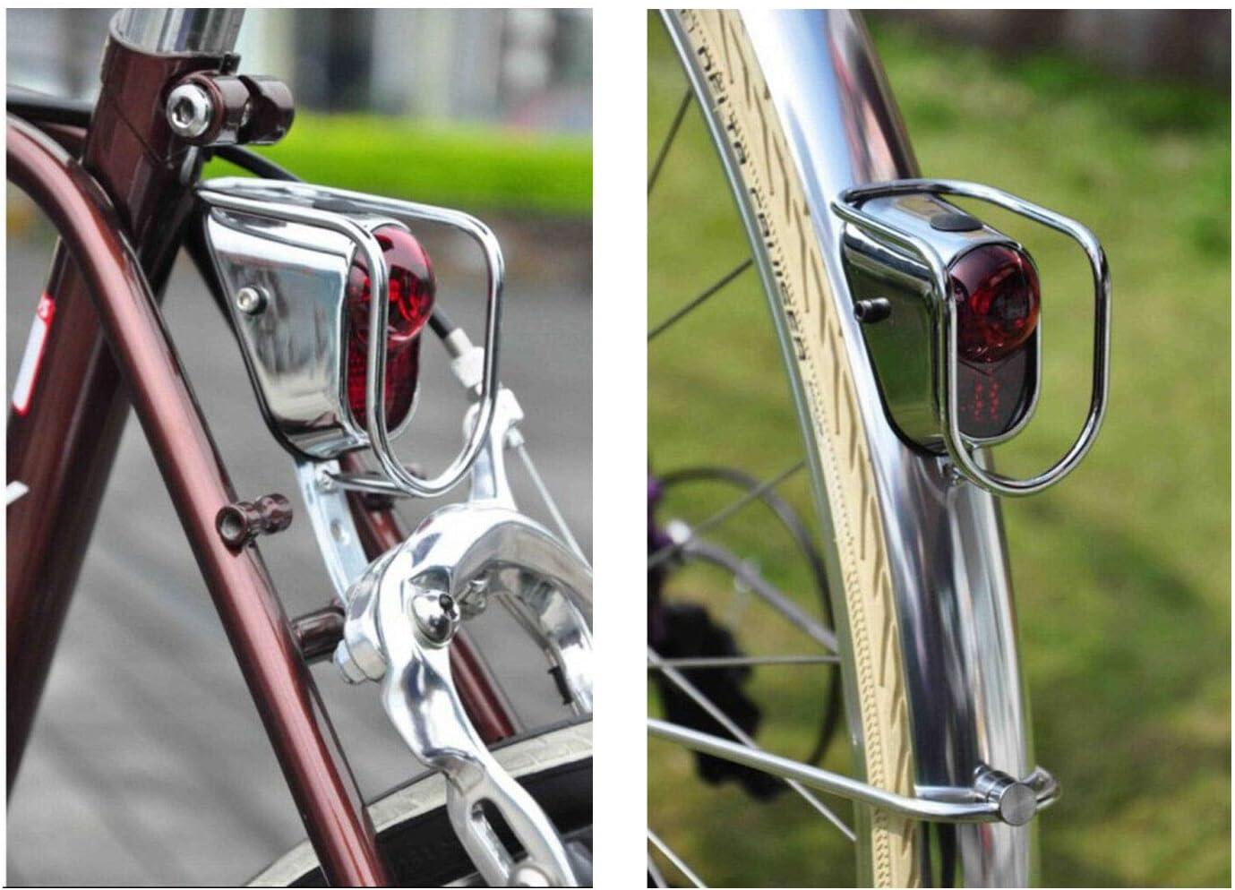 Fahrrad R/ückleuchten LED Chrom Old School Vintage Classic Tour-2