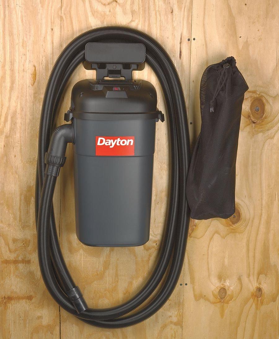 Dayton Hang-Up Wet/Dry Vacuum, 5.5 HP, 5 gal, 120V