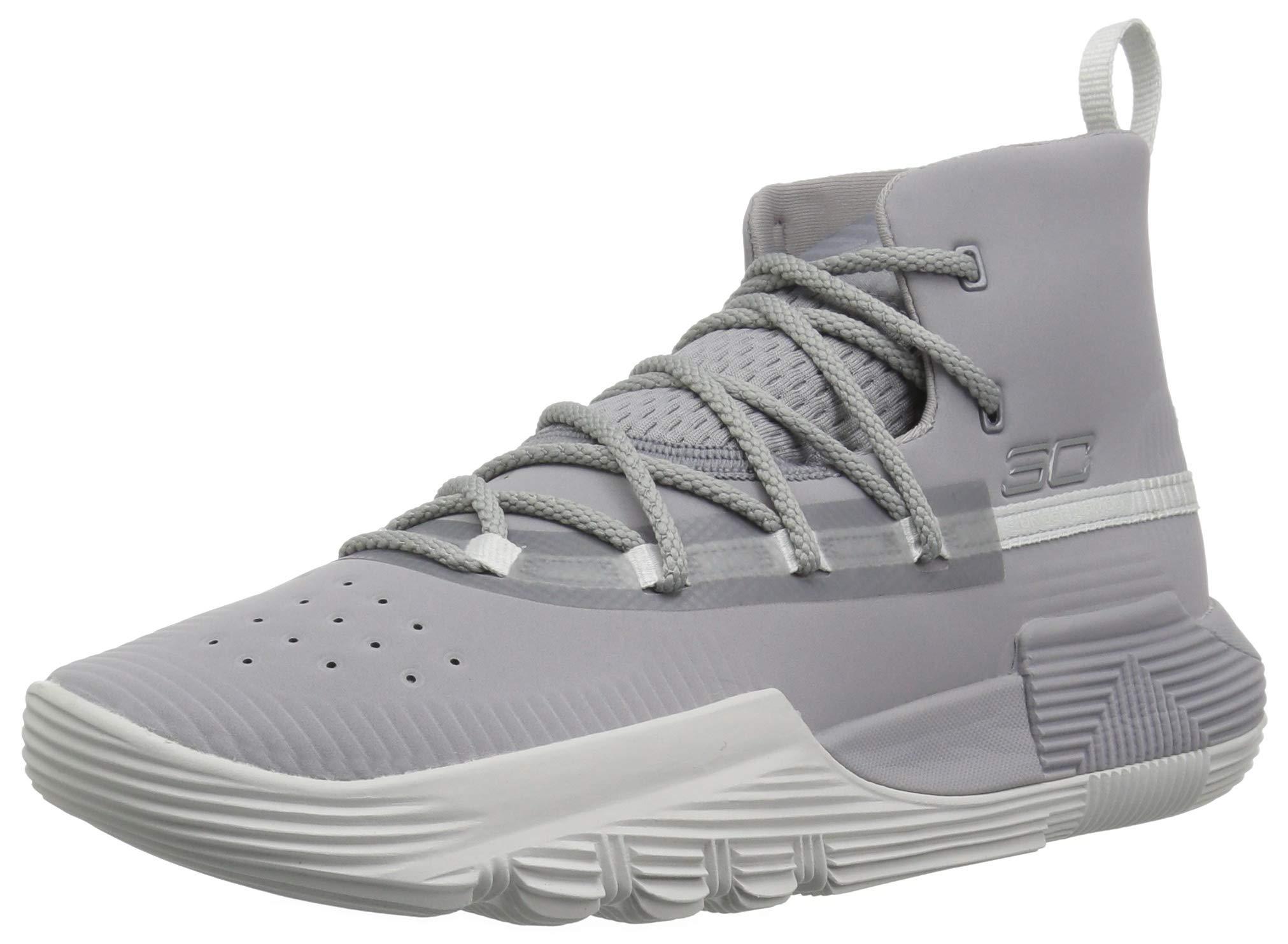 Under Armour Boys' Grade School SC 3Zer0 II Basketball Shoe, 101/Steel, 6