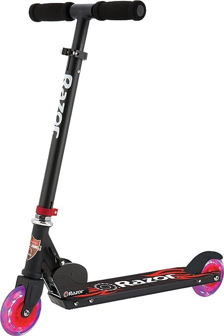 Amazon Com Razor Black Label A Light Up Scooter Red Sports
