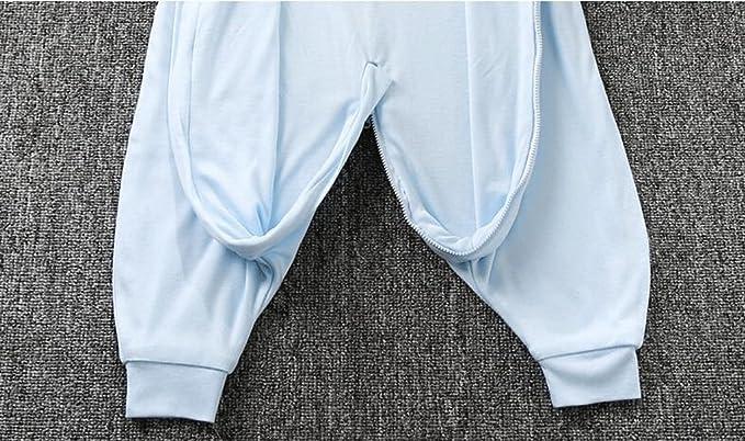 fzw Bolsa de dormir sin mangas para bebés Sección de verano del niño Pierna del bebé Primavera y verano de algodón Habitación con aire acondicionado Saco de ...