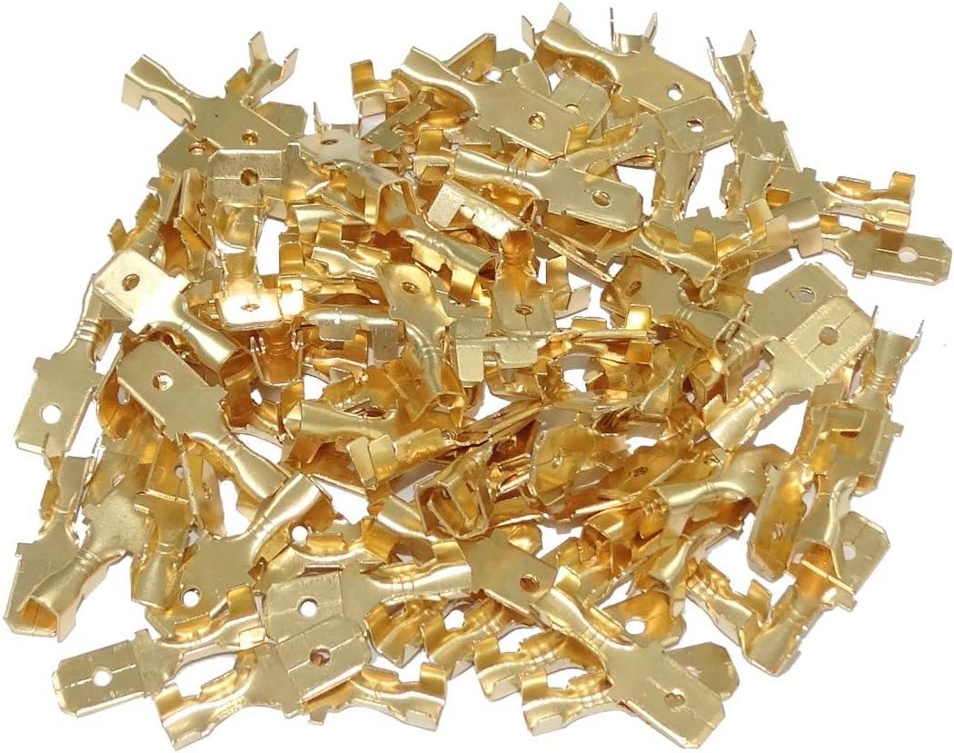 100x Cosse /électrique m/âle Plate 6.3mm 1-2.5mm2 C41302 AERZETIX