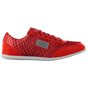 Firetrap Dr Domello Casual Trainers Mens Red Fashion Trainers Sneakers  Footwear (UK8) (EU42