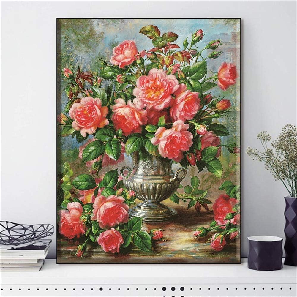 N / A Pintura de Hilo de Bordado DIY Bordado decoración del hogar Pintura sin Marco 70cmX87cm