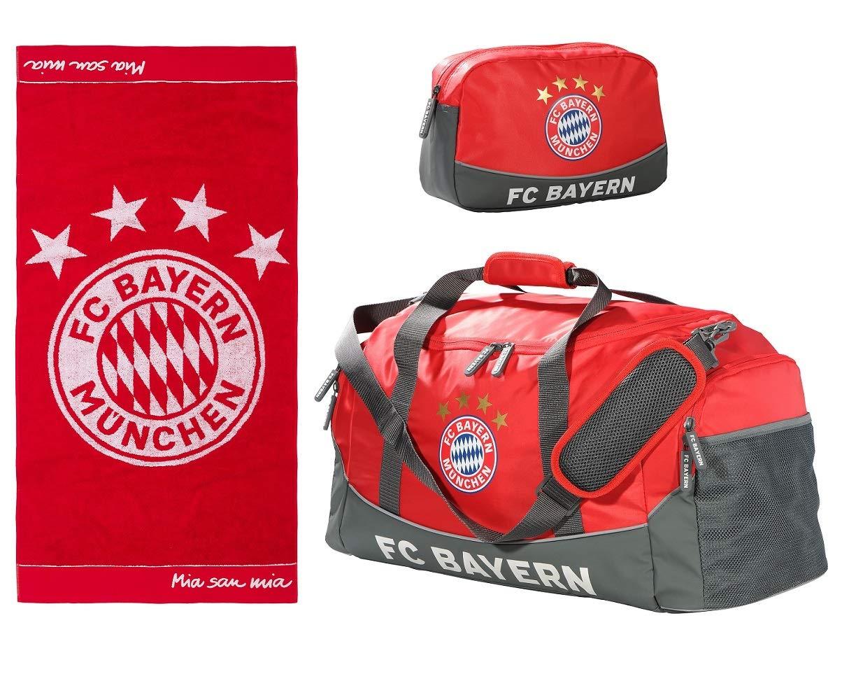 FC Bayern München Sport-juego de deporte con neceser y 70 x 140 cm toalla de baño 18823: Amazon.es: Deportes y aire libre