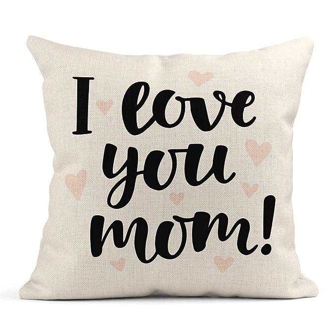 Cojín Te Amo Mamá Pincel Letras Día de la Madre Saludo ...