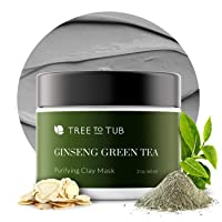 Activated Clay Face Masks for Women by Tree to Tub - Non Peel Off Clay Masks - Deep...