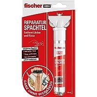 fischer Reparatiespatel, 1 x reparatieplamuurtube, 70 ml, boorgaten vullen, scheuren repareren, snel uitharden - geheel…