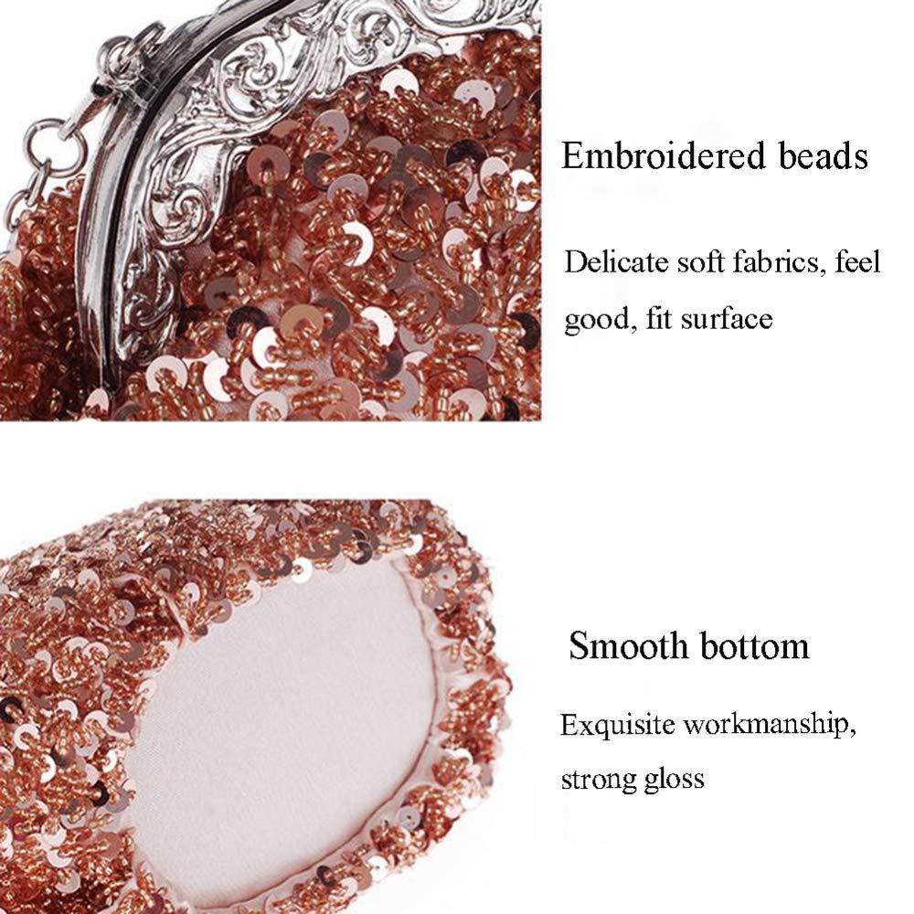 XRKZ Retro-Abendtasche, Diamant Intarsien Luxus High-End Handgefertigte Handgefertigte Handgefertigte Perlen Rostfrei Handtasche Braut Handtasche Mode Elegant Multi-Farbe Optional,D B07GWBRB6Z Clutches Markenschmaus 852398