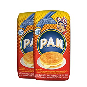 P.A.N. Sweet Corn Mix – Gluten Free Mixture for Cachapas, 500 Grams (17.63 Ounces / 1 Pound 1.63 Ounces) (Pack of 2)