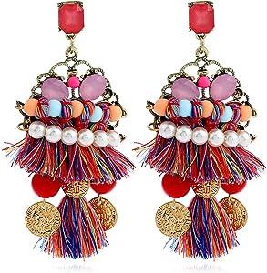 Free Bluegoog Boho Tassel Earrings Ethnic...