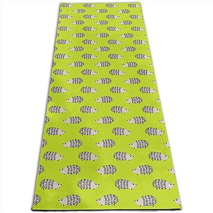 Amazon.com: Hedgehog Funny Cute Printed Yoga Mat Prana Yoga ...