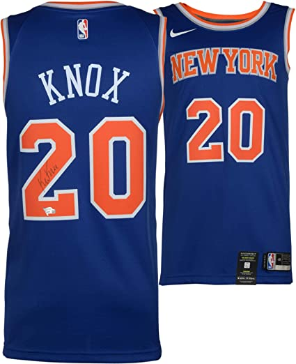 f745f2f2d Kevin Knox New York Knicks Autographed Nike Swingman Blue Jersey - Fanatics  Authentic Certified - Autographed