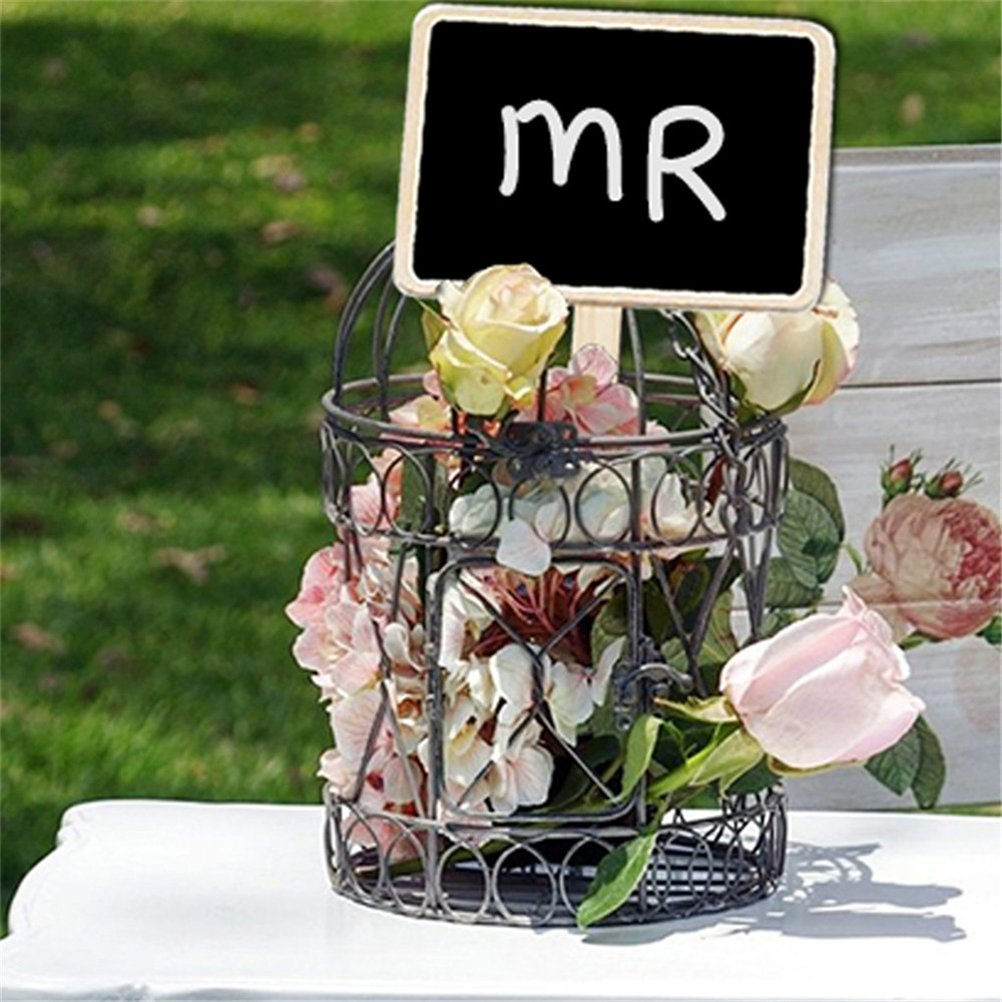 ULTNICE 10/UNIDs Mini Tafel Tafel Zeichen Garten Blumen und Pflanzen Etiketten Dekorationen f/ür die Haus