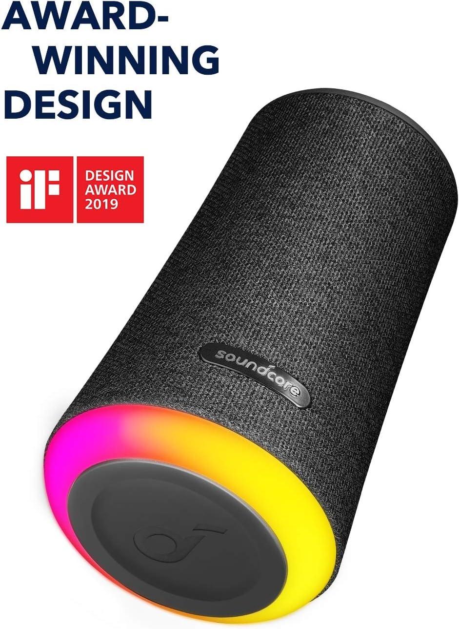 Anker Soundcore Flare+ Bluetooth Lautsprecher, mit Starkem 360°  Rundum-Sound, Fantastischem Bass, Stimmungs-LED-Licht, IPX7 wasserdichte,  20 h Spielzeit, für Partys (Schwarz): Amazon.de: Audio & HiFi