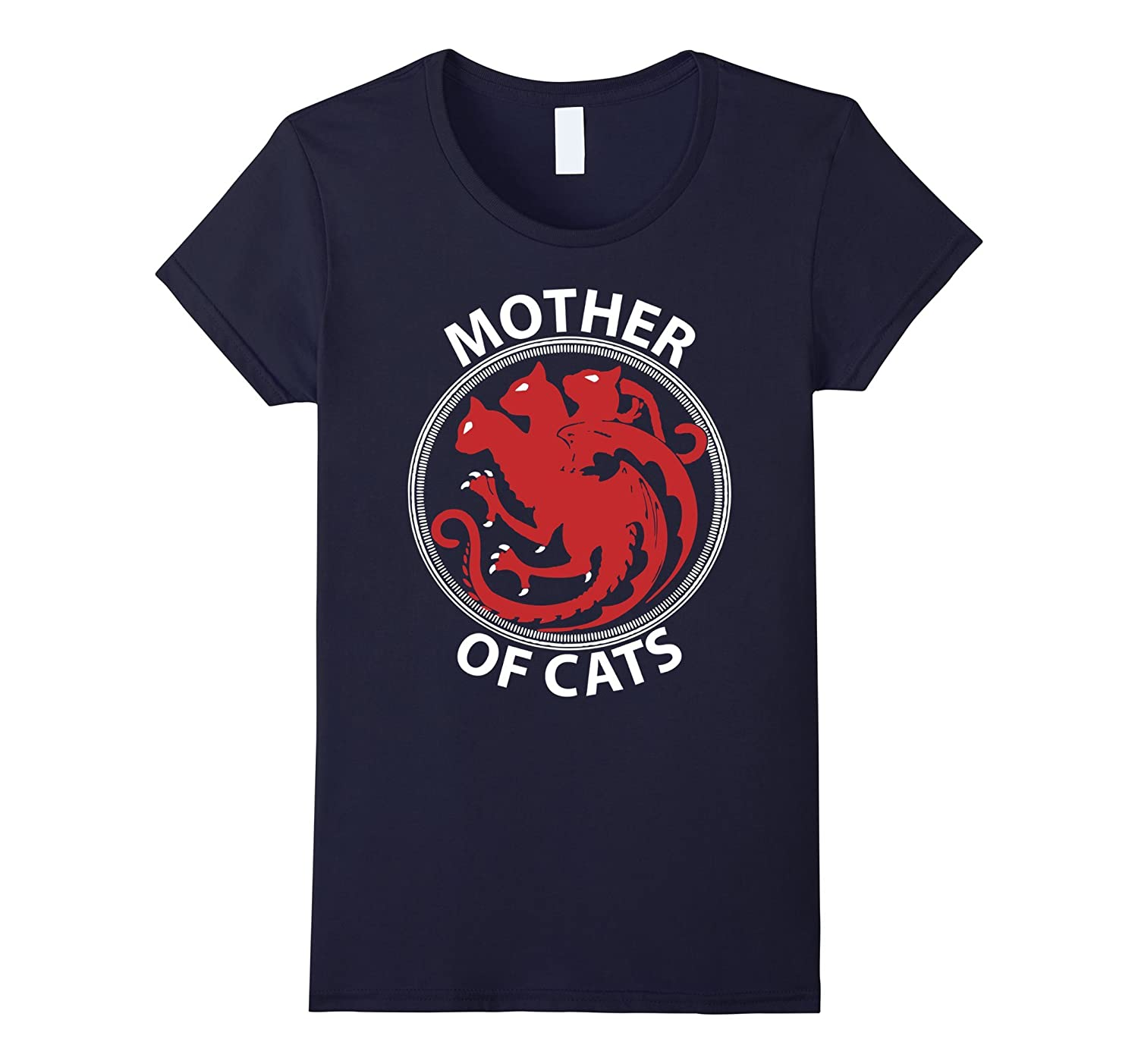 Womens Mother of Cats Funny Cat T Shirt Cute Cat Lovers Gift