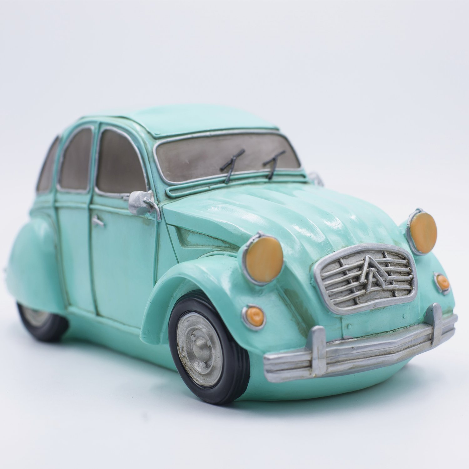Amazlab Vintage Car Lamp Green Citroen Bedside Lantern, Warm White Glow, USB Or Battery Powered, with 4 Hours Timer Shaped Table Night