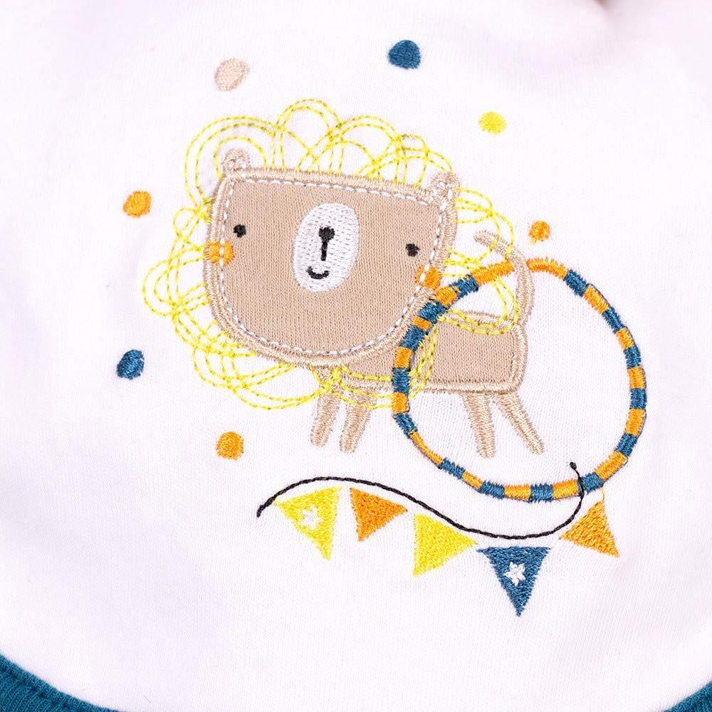 Latz f/ür Neugeborene /& Kleinkinder M/ütze 5 Teile Strampler Gr/ö/ße: 0-3 Monate 56//62 Handschuhe Motiv: Zirkustiere Lily /& Jack Baby Set Jungen bunt Body
