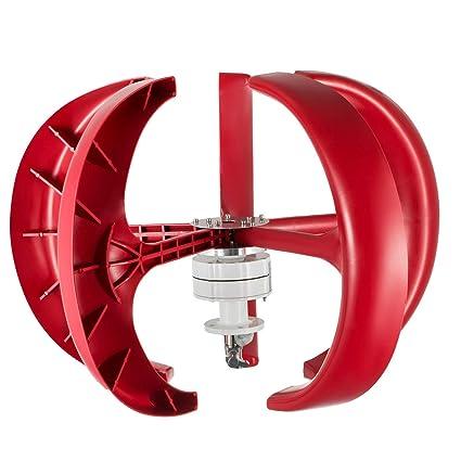 Moracle Turbina de Viento 600W 12V Linterna Aerogeneradores ...