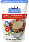 Flax USA/Stober Farms Organic Cold Milled Flax Seed 48 Ounce (Packaging May Vary)