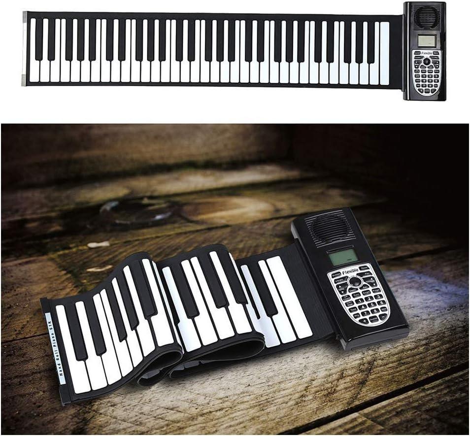 TIM-LI Teclados De Piano Enrollables Recargables Portátiles ...