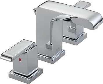 Delta 3586LF MPU Arzo Two Handle Widespread Bathroom Faucet, Chrome