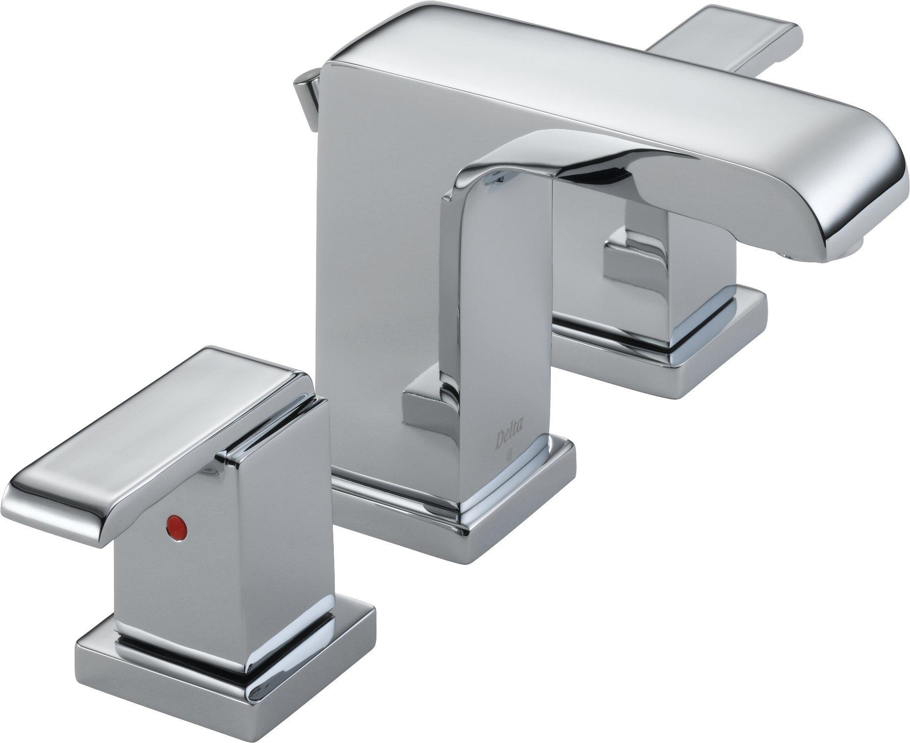 Delta 3586LF-MPU Arzo Two Handle Widespread Lavatory Faucet, Chrome