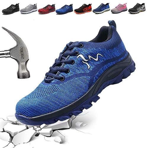Amazon.com: Zapatos de trabajo de seguridad de acero para ...