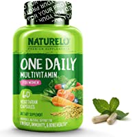 NATURELO One Daily Multivitamin for Women - Best for Hair, Skin, Nails - Natural...