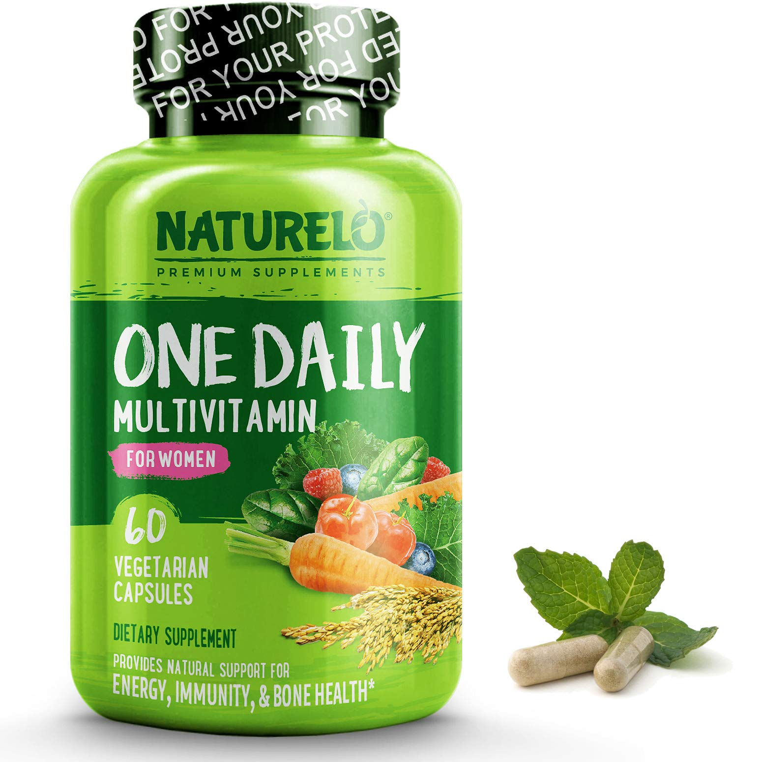 NATURELO One Daily Multivitamin for Women - Best for Hair, Skin, Nails - Natural