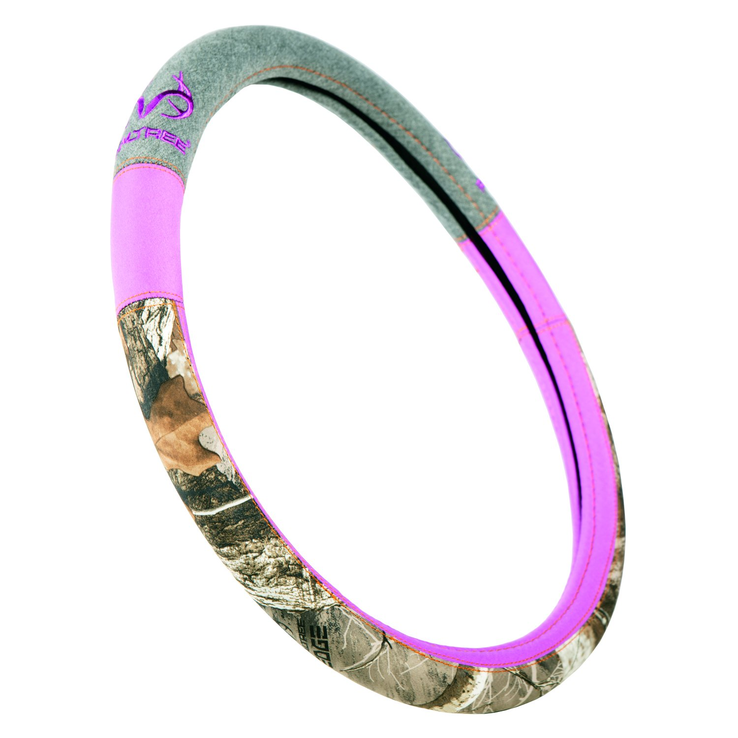 One Size Fits Most Realtree Steering Wheel Cover Includes 1 Camo Steering Wheel Cover Edge//Black Patriotic