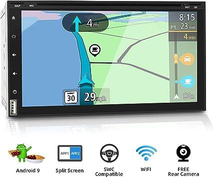 2 Din Android 9.0 Autoradio Car Stereo GPS de navegación Auto ...