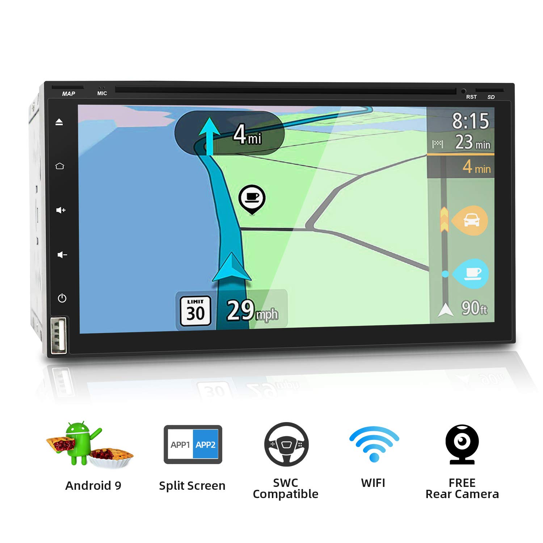 2 Din Android 9.0 Autoradio Car Stereo GPS de navegación Auto Radio | LIBRE Cámara trasera | Soporte WLAN Mirror-Link DAB+ SD USB 4G Google Mandos del ...