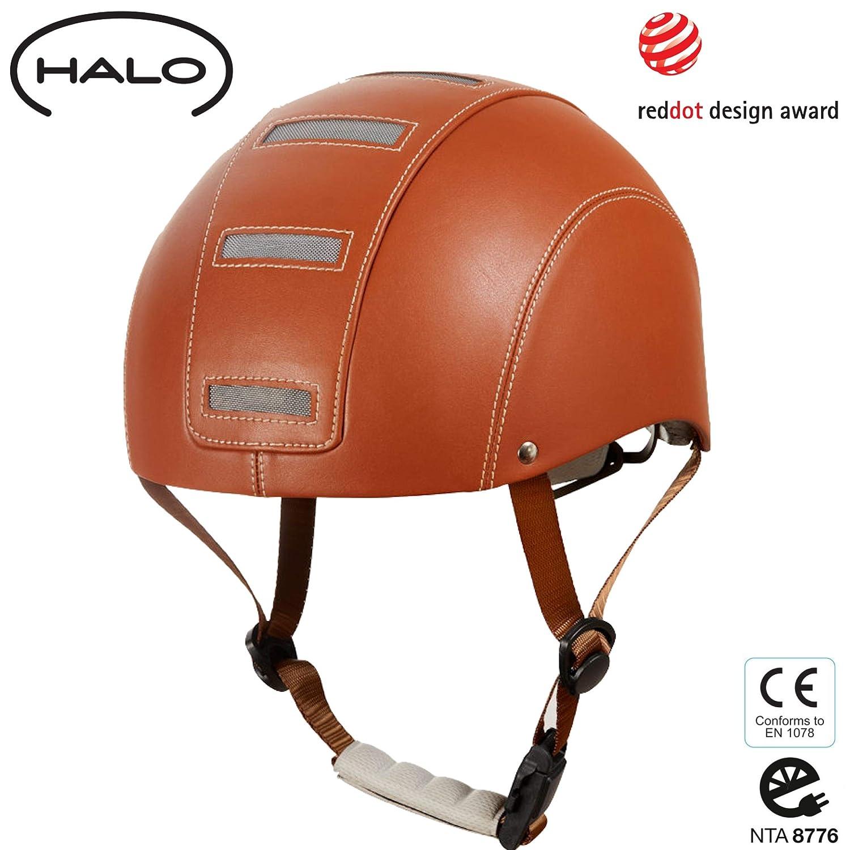 Halo Radhelm aus veganem Leder – Geprüfter Fahrradhelm für Fahrräder, Skateboard, Pedelecs und S-Pedelecs bis 45km h für Damen und Herren – Sicherheit, Funktionalität und Top Design