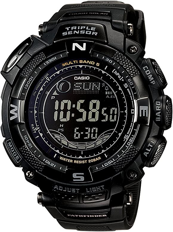 Mens PAW1500Y-1 Pathfinder Multi-Band Solar Atomic Digital Watch
