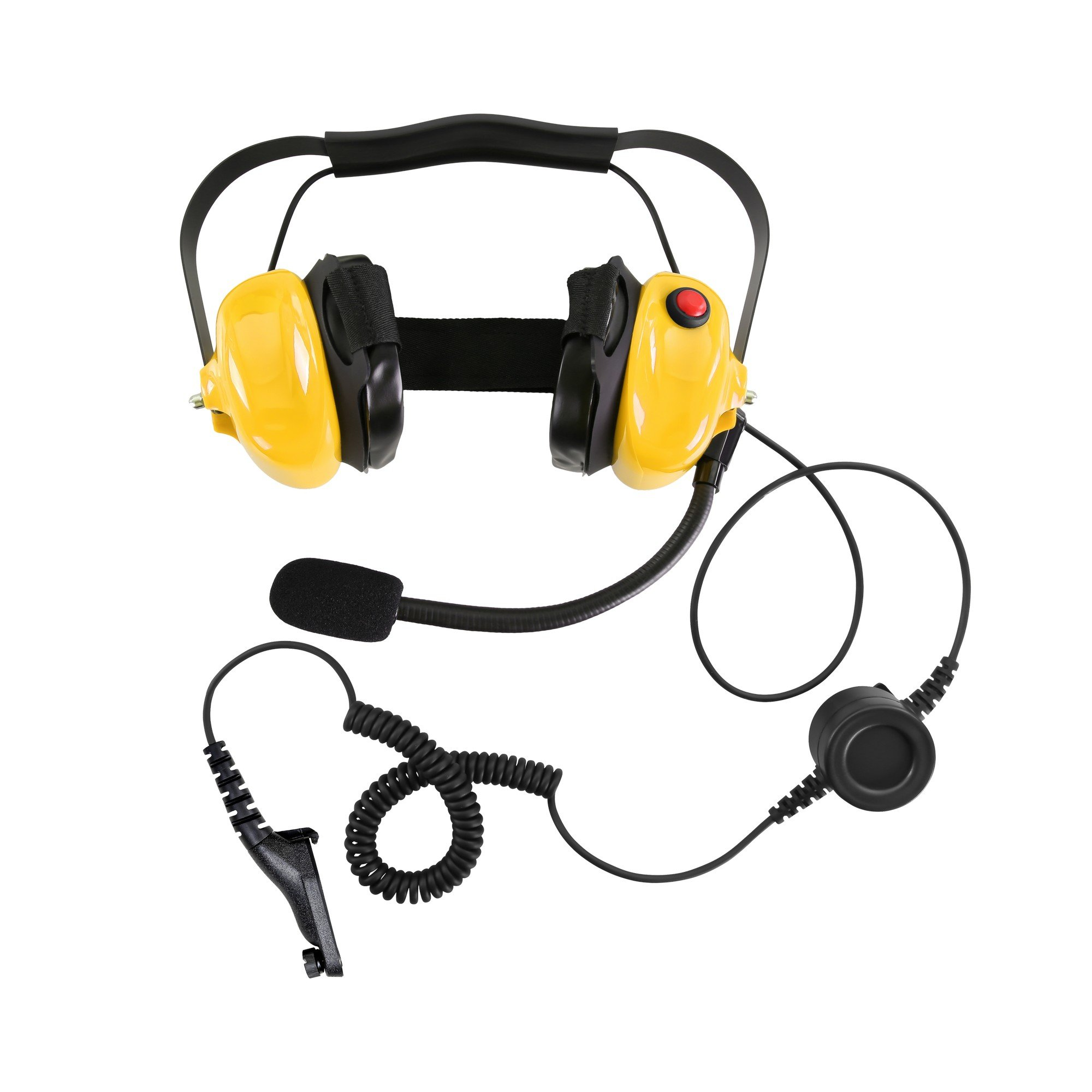 Bommeow BHDH50-YW-M9 Noise Isolating Headphone for Motorola Mototrbo DP4800 DP4601 Walkie Talkies in Yellow