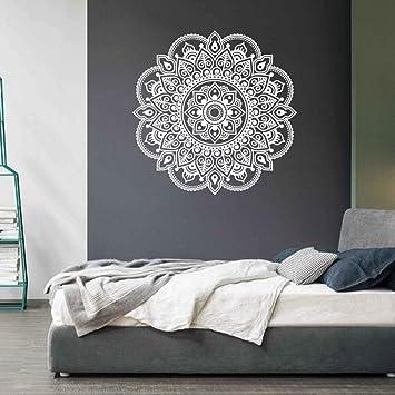Ouneed® Wandaufkleber Wandtattoo Wandsticker , Mandala Blume Indische  Schlafzimmer Wohnzimmer Wandaufkleber Aufkleber Kunst Mural Home