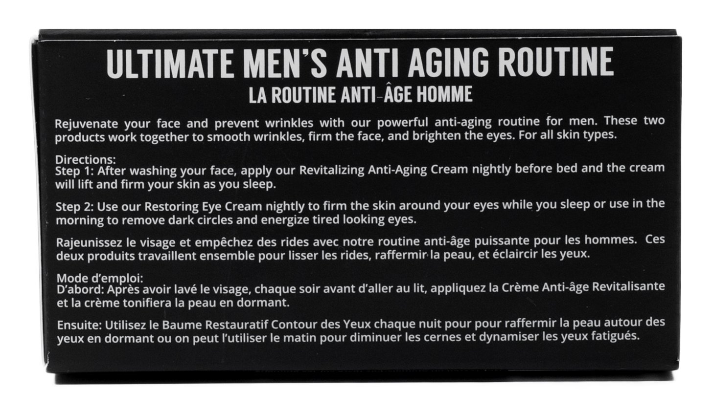Brickell Men's Ultimate Anti-Aging Routine - Anti-Wrinkle Night Face Cream and Eye Cream to Reduce Puffiness, Wrinkles, Dark Circles, Under Eye Bags - Natural & Organic (Scented) by Brickell Men's Products (Image #6)