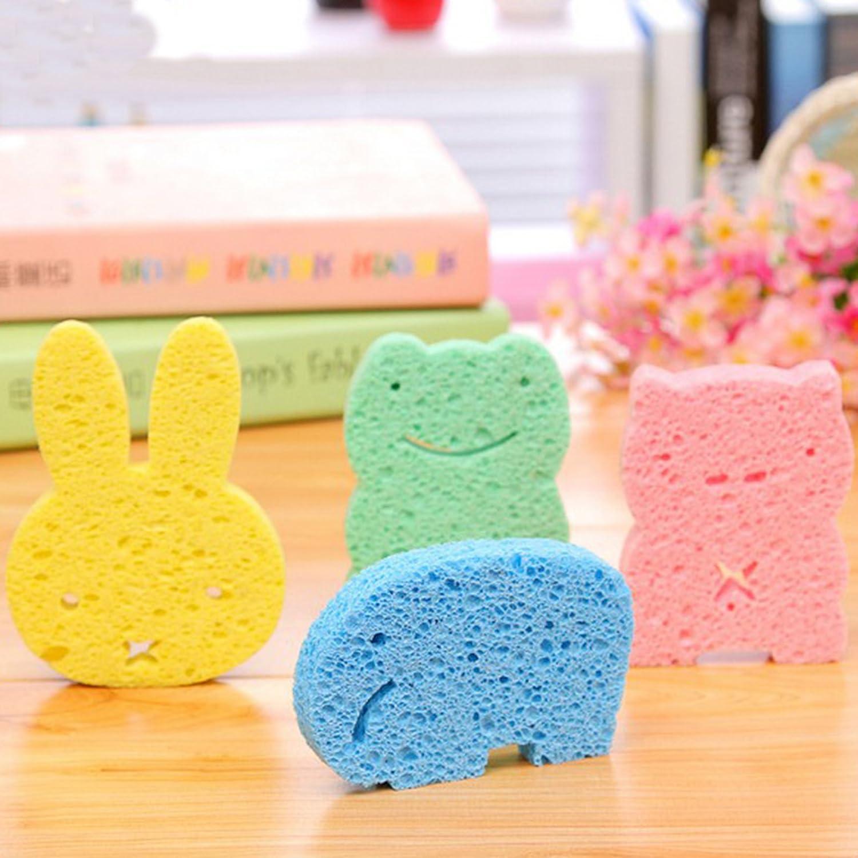 Baby Bath Sponge,Scrubber Baby Shower Sponge for Children New Style Shower ball Protecting Newborn Skin Cute Bath balls YIHUA