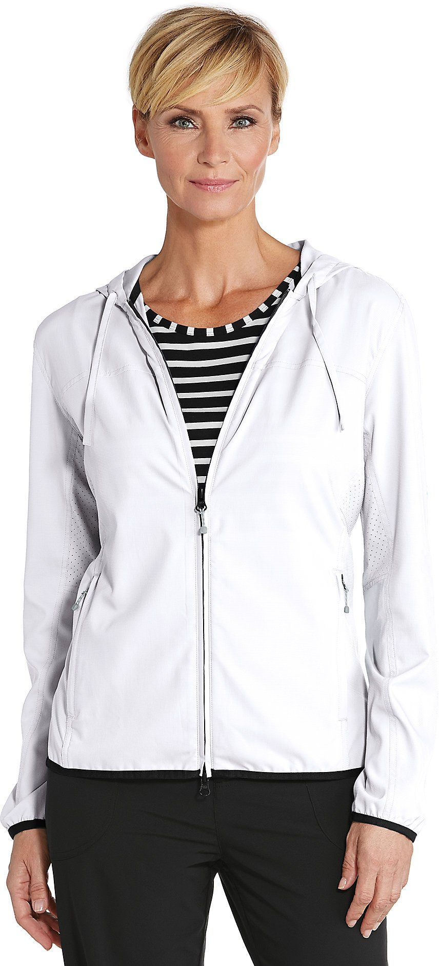 Coolibar UPF 50+ Women's Packable Sunblock Jacket - Sun Protective (2X- White)