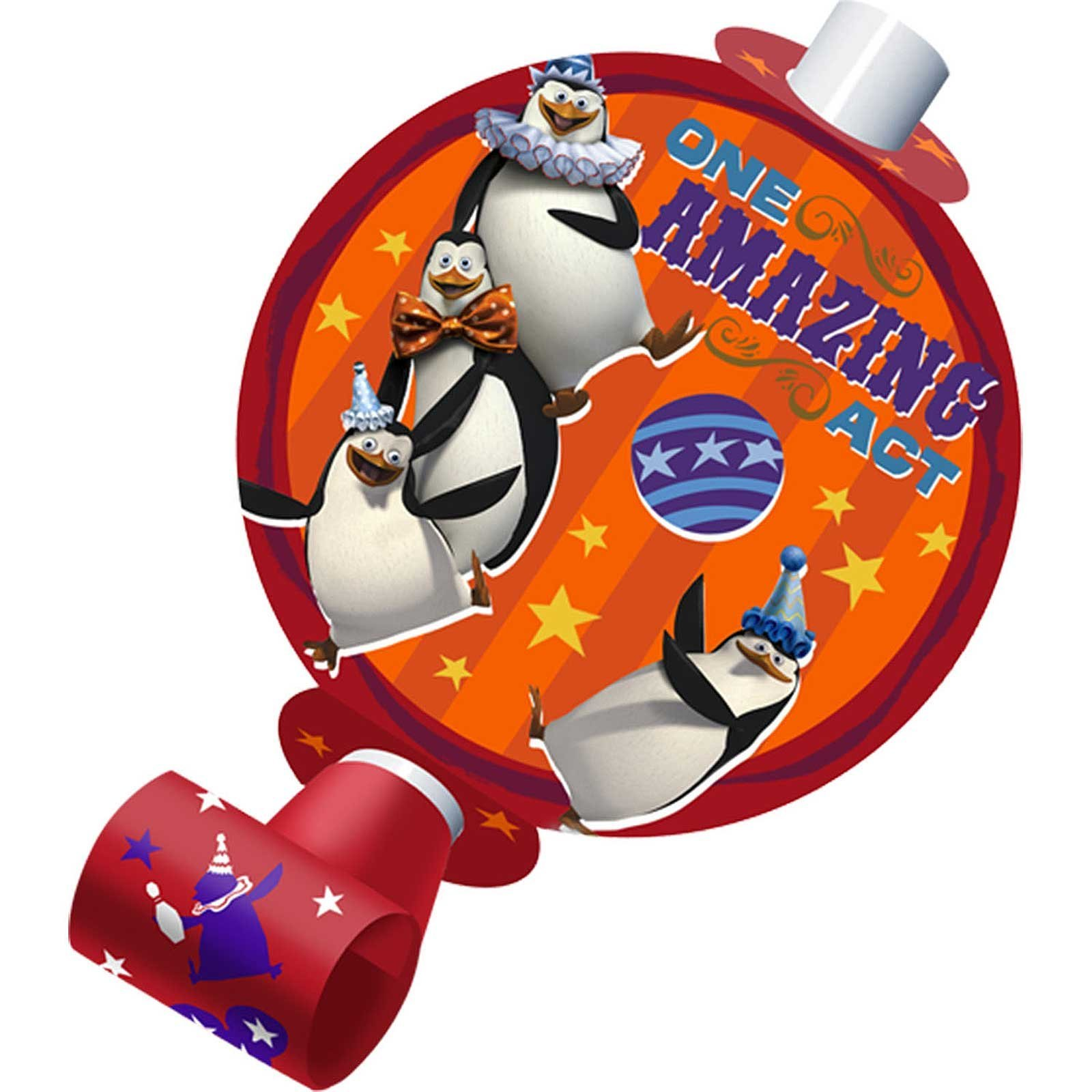 Madagascar 3 Blowouts (8) Party Accessory by Hallmark