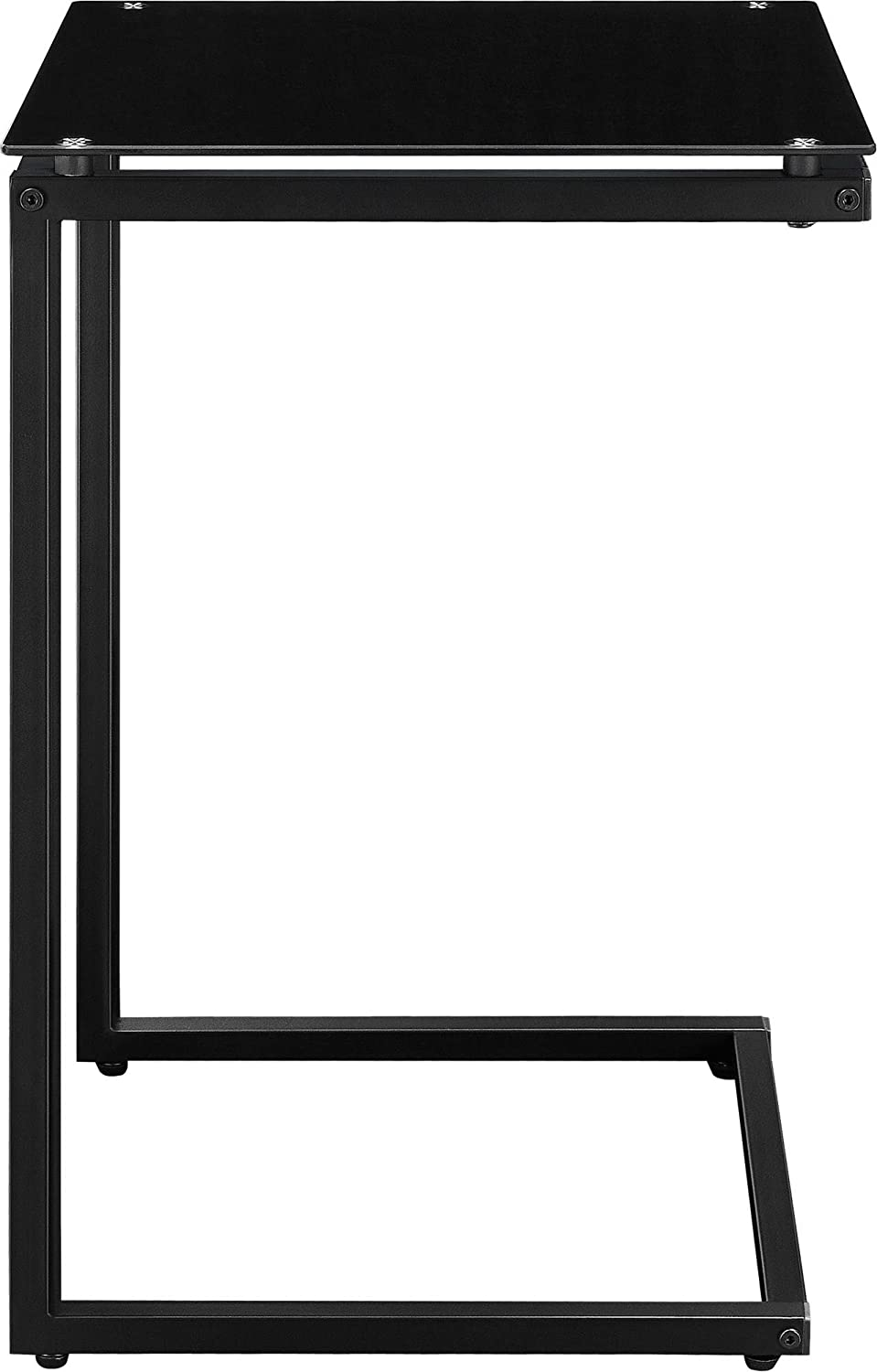 Superb Amazon.com: Ameriwood Home Crane Glass Top C Table, Black: Kitchen U0026 Dining