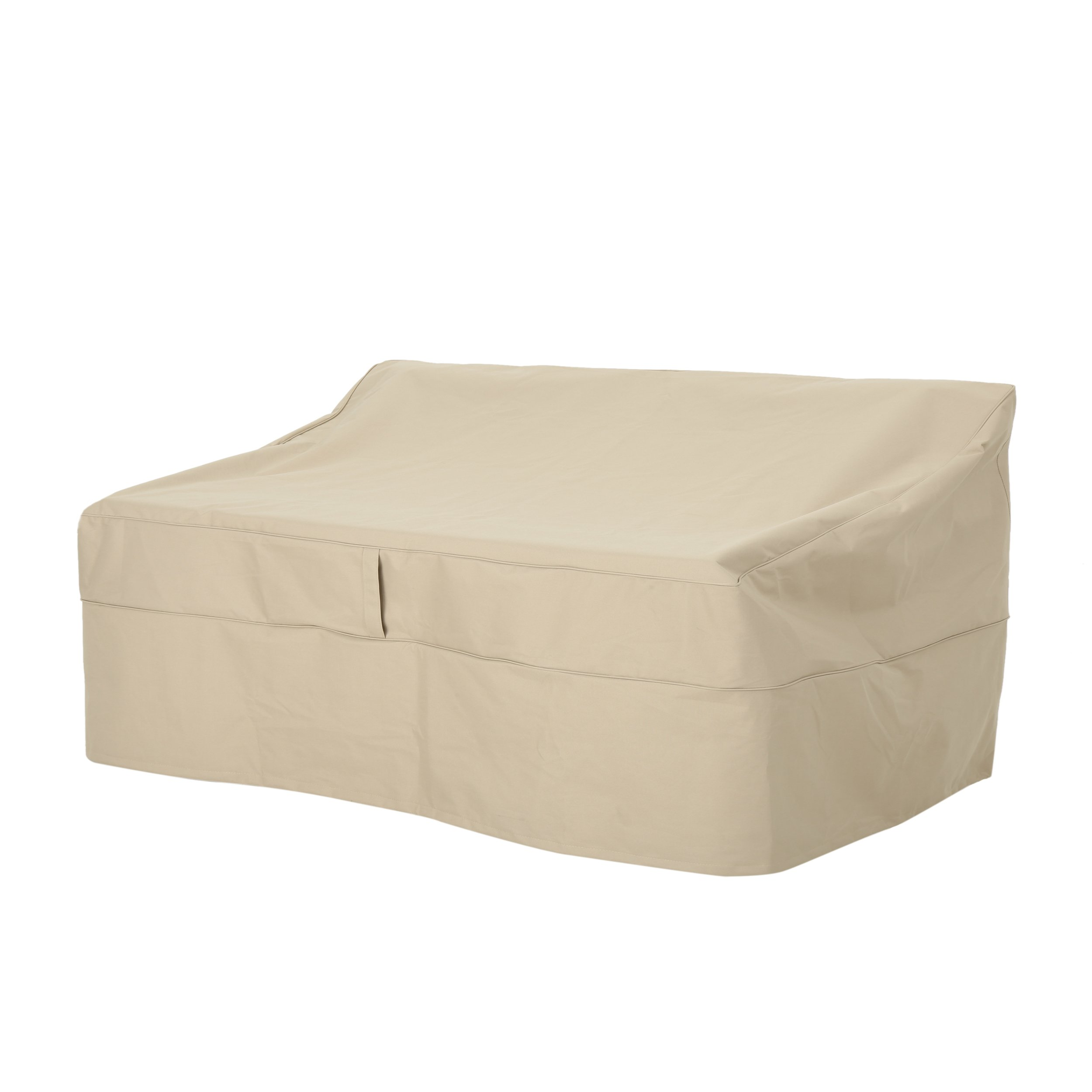 Charlene Outdoor 60'' by 35'' Waterproof Loveseat Cover, Beige by Great Deal Furniture (Image #1)